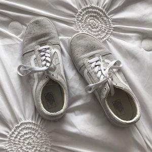 Vans Shoes - White & Grey Vans